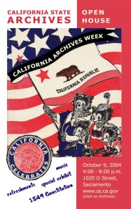 2004 California Archives Week Poster