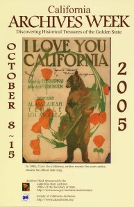2005 California Archives Week Poster