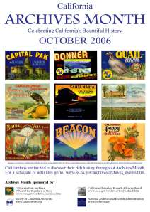 2006 Archives Month Poster: Celebrating California's Bountiful History