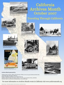 2007 California Archives Month Poster: Traveling Through California
