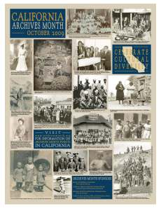 2009 California Archives Month: Celebrate Cultural Diversity