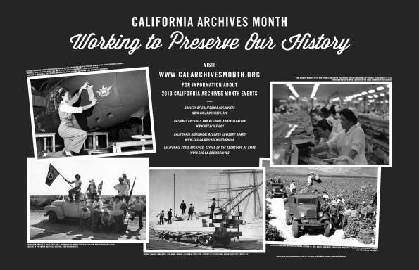 California Archives Month Poster 2013